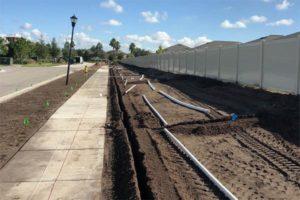 commercial irrigation installation